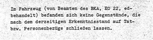 Vermerk BKA an Innenministerium, 1980