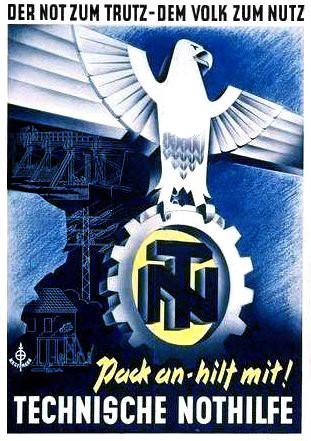 Plakat der technischen Nothilfe