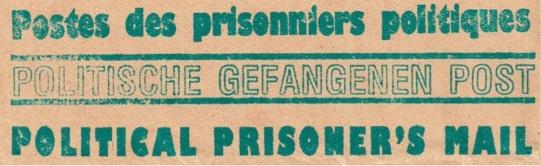 Poststempel einer Gefangenenorganisation