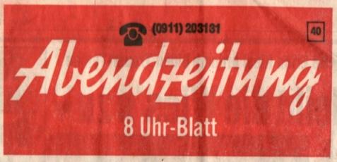 Abendzeitung, Titelei