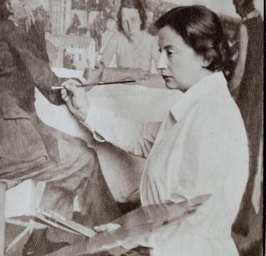 1241|1195|Unbekannt|Wanda von Debschitz-Kunowski, Lotte Laserstein vor Abend über Potsdam, 1930; Ausstellung im Jüdischen Museum Frankfurt ...